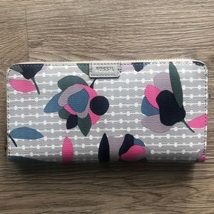 Handbags - FOSSIL RFID ZIP AROUND WALLET